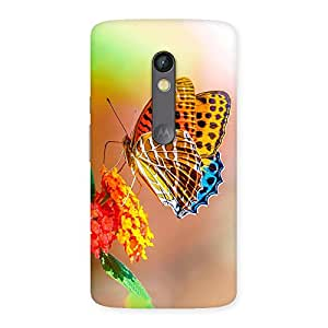 Delighted Queen Butterfly Back Case Cover for Moto X Play