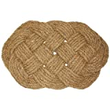 J & M Home Fashions Oval Knot Woven Coco Doormat, 18-Inch by 30-Inch