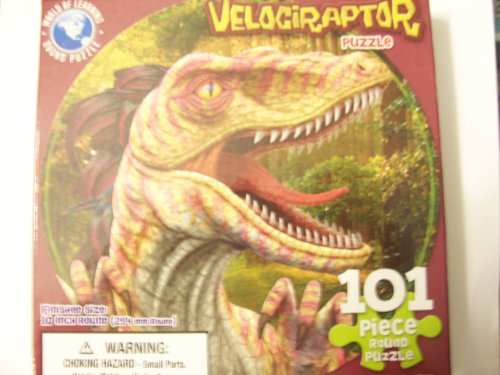 World of Learning 101 Piece Round Puzzle ~ Velociraptor