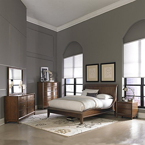 Walnut Sleigh Bed