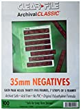 ClearFile Archival Classic ~ 35mm Negative Pages, 100 Pack