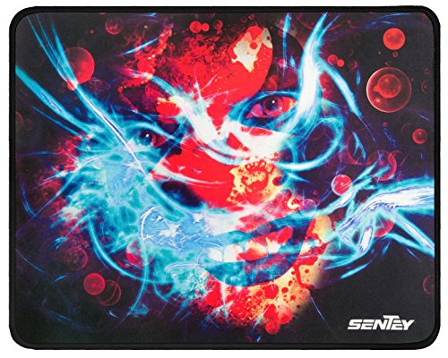 Mouse Pad Sentey® Sinergy Mouse Surface 2Mm Thick - Support Wired Or Wireless Mouse And Gaming Mouse/ Gaming Surface / Edge-Style Overlock / Natural Eco Rubber / Medium Friction Level / 100 % Polyester / Gs-2320 / Compatible Any Dpi Speed And Any Optical