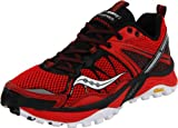Saucony Men's Progrid Xodus 3.0 Trail Running Shoe,Red/Black/White-UK Size 10/US Size 10
