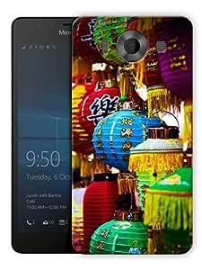 "Humor Gang Paper Lantern Pattern Printed Designer Mobile Back Cover For ""Nokia Lumia 950"" (3D, Matte, Premium Quality Snap On Case)"