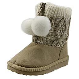 Orgrimmar Baby Girls Boys Cute Plush Woolen Knitted Thick Snow Boots (Toddler 4)