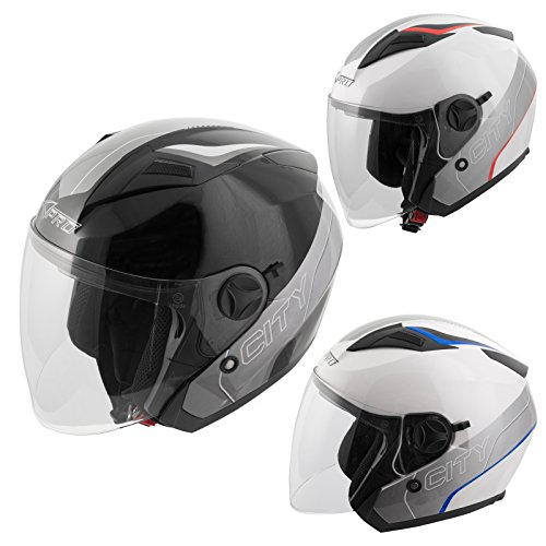 Casco-Jet-Moto-Scooter-Omologato-ECE-22-05-Citt-Visiera-Parasole-Interna