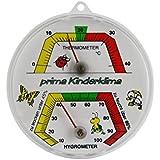 Kinder Zimmer Bimetall Kombi Thermometer / Hygrometer Analog . Thermohygrometer / Luftfeuchtemessung . Made in Germany