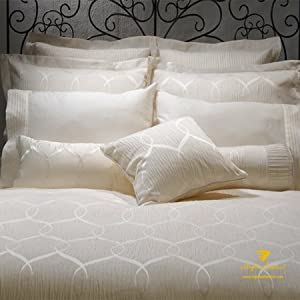"California King/Cal.king/Oversize Duvet Cover-110X100''-""Sienna"" Pintuck Scroll Collection"