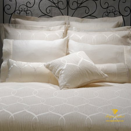 """Queen Size Duvet Cover 88X90''-""""Sienna"""" Pintuck Scroll Collection front-962115"""