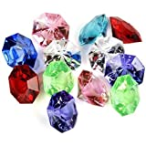 Jollylife Package of 36-multi Colored 25 Carat Acrylic Diamonds for Weddings, Parties and More