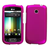 MyBat LG Phoenix / Optimus T Lizzo Ruberized Phone Protector Cover - Titani ....