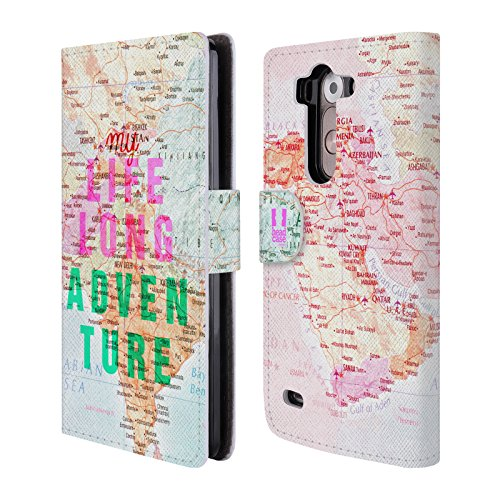 Head Case Designs My Lifelong Adventure Wanderlust Statements Leather Book Wallet Case Cover for LG G3 S / G3 Beat / G3 Vigor (Lg G3 S D722 Case compare prices)