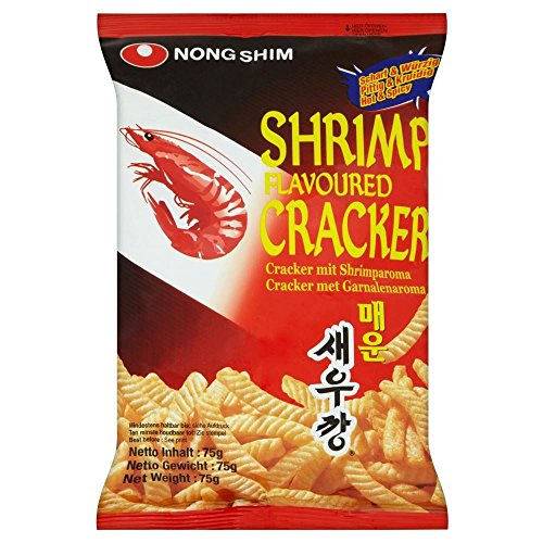 Nong Shim Shrimp Crackers - Hot & Spicy (75g) - Packung mit 2