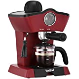 VonShef 4 Bar Espresso Coffee Maker Machine - Free 2 Year Warranty - Make Espressos, Lattes, Cappuccinos & More!