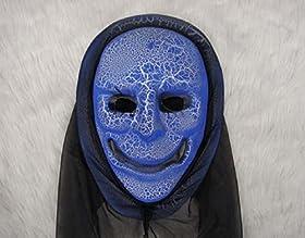 気持ち悪い 仮面 ブルー 怖い 肝試し ハロウィン