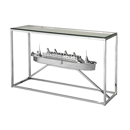Stein World Furniture Bismark Nautical Console Table, Nickel