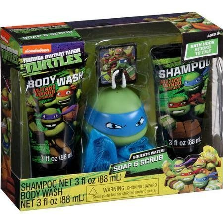 Nickelodeon Teenage Mutant Ninja Turtles 4 pc Bath Set