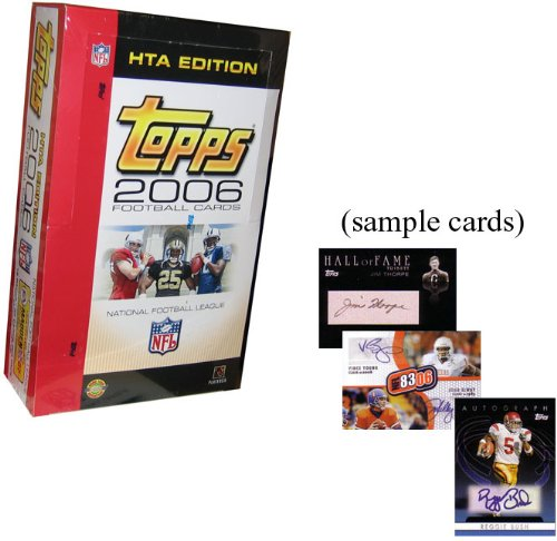 2006 Topps Football Cards Unopened Jumbo Hobby Box (12 packs/box, 35 cards/pack) - Randomly inserted autograph & jersey cards plus rookies of Reggie Bush, Matt Leinart, Vince Young & more! (Reggie Bush Rookie Card compare prices)