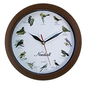 newhall tm singing bird wall clock home kitchen
