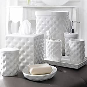 Kassatex mojave bath tumbler white for White bathroom tumbler