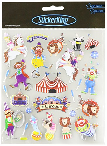 Multi-Colored Stickers-Circus Time!