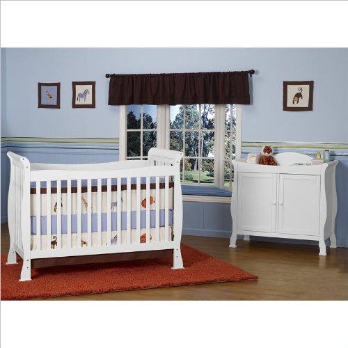 Davinci Reagan 4-In-1 Convertible Wood Crib Set W/ Toddler Rail In White front-15545