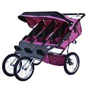 BeBeLove USA New Triple Jogging Stroller Pink