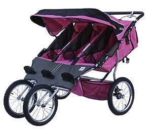 BeBeLove USA New Triple Jogging Stroller, Pink by BeBeLove USA