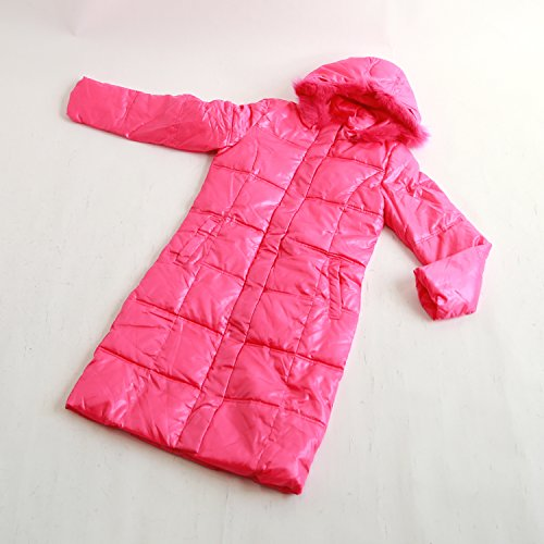 ETHIQUE-confection フード付きジャケット ピンク ロングジャケット 中綿入り