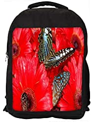 """Snoogg Brown Butterfly Casual Laptop Backpak Fits All 15 - 15.6"""" Inch Laptops"""