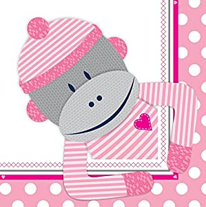 Sock Monkey Pink Lunch Napkins (20)