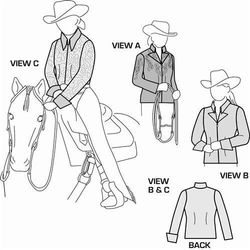 Suitability 5599 Womens and Girls Western Show Jacket and Blouse Sewing Pattern