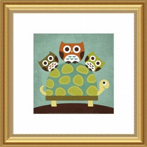 Barewalls Wall Decor, Three Owls on Turtle - 1