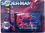 Spiderman Ensemble montre et portefeuille pour enfants