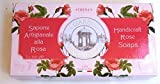 Athenas Italy Handcrafted Rose Soaps 2 X 3.5 Oz.