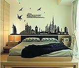 StillCool-shifashionshop-AufkleberSchwarz-Stadt-Silhouette-Stadtansicht-Wolkenkratzer-Wandtattoo-Wohnzimmer-Schlafzimmer-entfernbare-Wand-Aufkleber-Murals-60-90cm-Stadt-Silhouette
