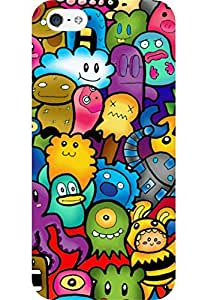 AMEZ designer printed 3d premium high quality back case cover for Apple iPhone 5 (cute ghosts)