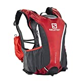 Salomon Skin Pro 10+3 Hydration Pack-Bright Red Asphalt White