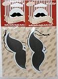 Vanilla Moustache Shaped Air Freshener 2Pack