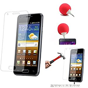 Qualitas Pack of 11 Tempered Glass for HTC One E9 Plus + 3.5mm Audio Dock Sponge Speaker