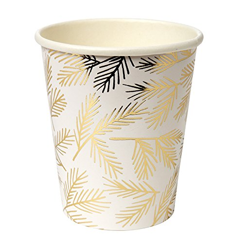 Paper Cups Christmas Party Holiday Party Thanksgiving Insulated Cups Disposable Cups 9 oz. Pk 16