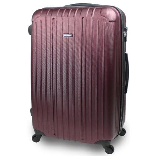【SUCCESS サクセス】 スーツケース キャリーバッグ 大型 超軽量 TSAロック 搭載 【エアー2014 ダブルファスナーモデル】 エンボス加工モデル (大型 76cm, ダークワイン)