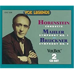 Horenstein conducts Mahler Symphony No. 1 & Bruckner Symphony No. 9(CD-R)