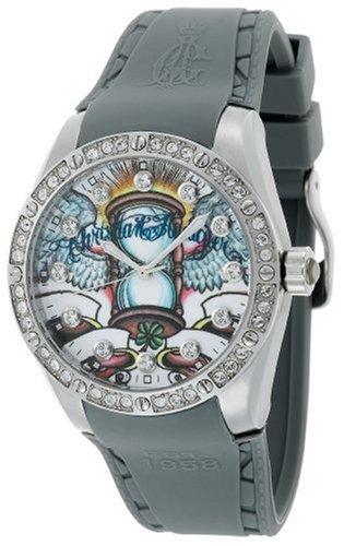 Christian Audigier Unisex Int-301 Intensity Hourglass Stainless Steel Watch