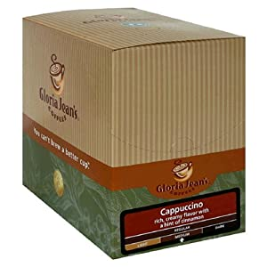 Gloria Jeans K-Cups, Cappuccino, 24-Count Box (Pack of 2)