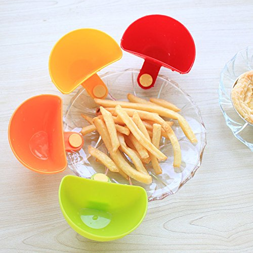 (4) multiuso colori brillanti Mini DIP Clips in plastica Condimenti vassoio intelligente gadget da cucina Accessori