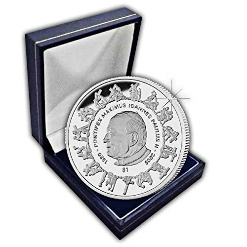 Sierra Leone 2005 Remembers His Holiness Pope John Paul II Coin in a box (Pope John Paul Ii Coin compare prices)