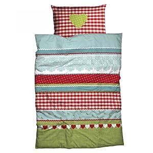 nobilium mako satin bettw sche dessin chiemsee im landhausstil 155x220 cm rot bettw sche. Black Bedroom Furniture Sets. Home Design Ideas