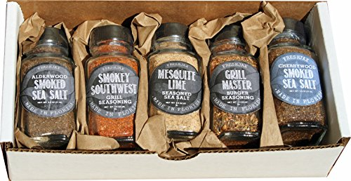 Gift Set of 5 FreshJax Smoked Gourmet Handcrafted Spice Blends (Smokey Spices) - Small Batch Handmade Artisan