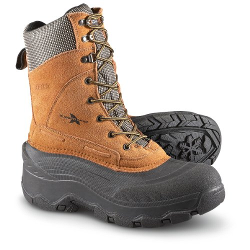 Men's Rugged Shark 200 gram Thinsulate Insulation Avalanche Boots Brown, BROWN, 10M